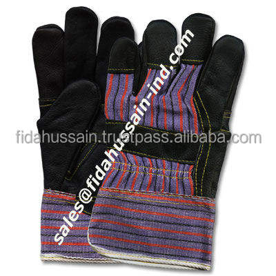 Best Quality Leather Work Gloves / 707 Canadian Rigger Work Gloves / Grain Leather Working Gloves