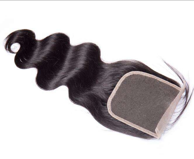 10A Body wave human hair with closure with baby hair Wholesale 100% virgin malaysian 4x4 lace frontal closure free/middle/part