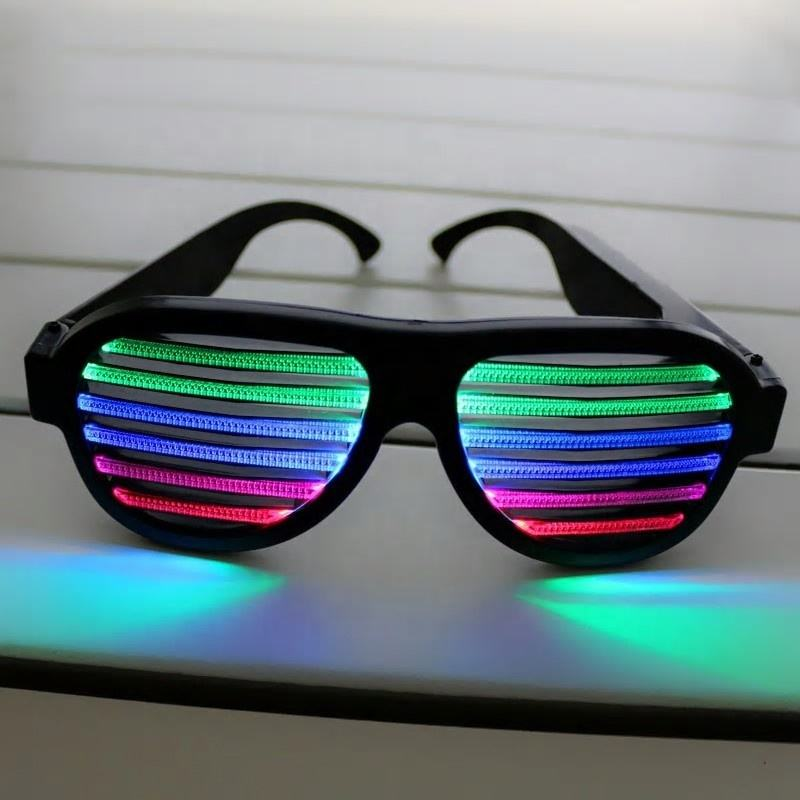 Activated Light Sound Control Glasses Voice-Activated Flashing Glasses Pink USB Rechargeable LED Flashing Glasses Sound & Music