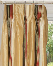 silk french pleated curtain