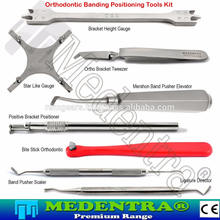 MEDENTRA 8PCS Ortho Bands Bracket Positioning Tools Set Up Dental Braces Pusher Guages