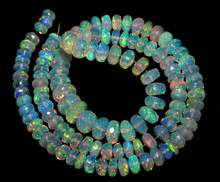 Ethiopian Opal Faceted Beads Rondelle Shape
