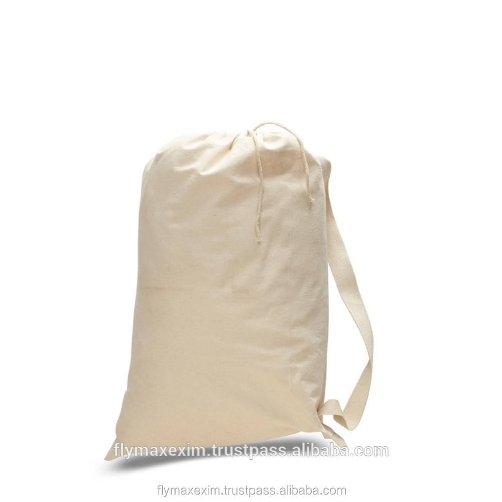 natural canvas duffle bags/ cotton drawstring duffle bags