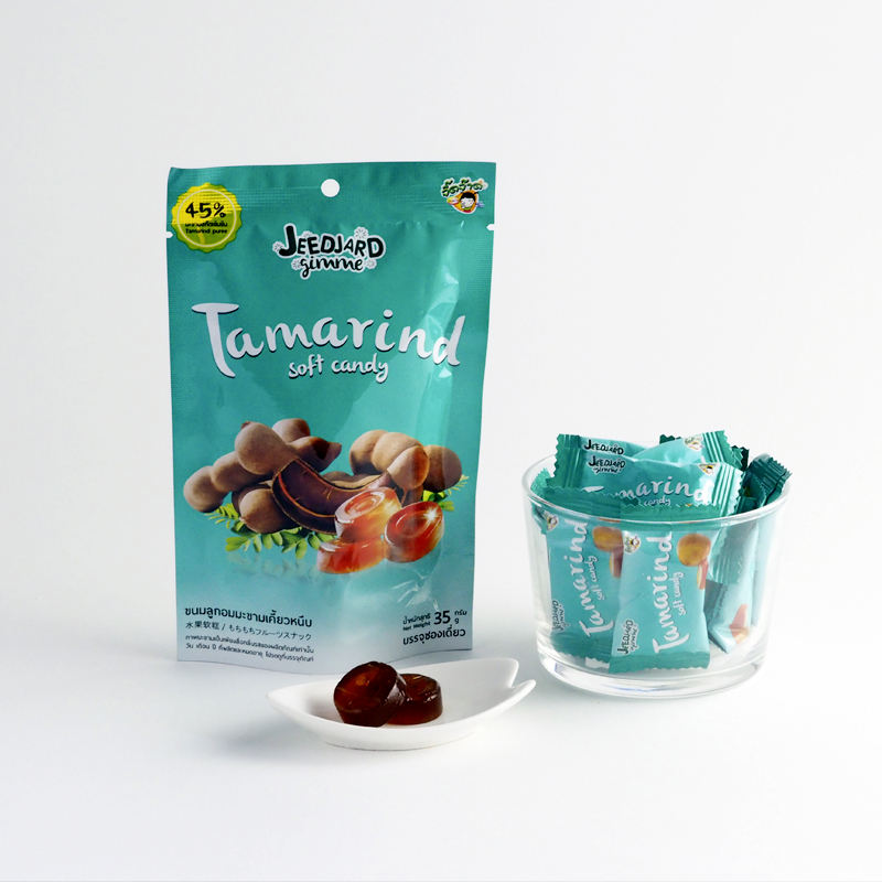 Jeedjard Gimme Tamarind Juicy Soft Candy 45% Puree Fruits Cake 35gr