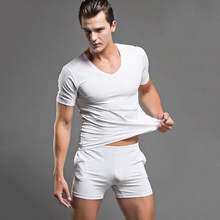 Hot New Men Nightwear Set Pajamas Comfy Sleepwear Homewear Tracksuit Top + Shorts