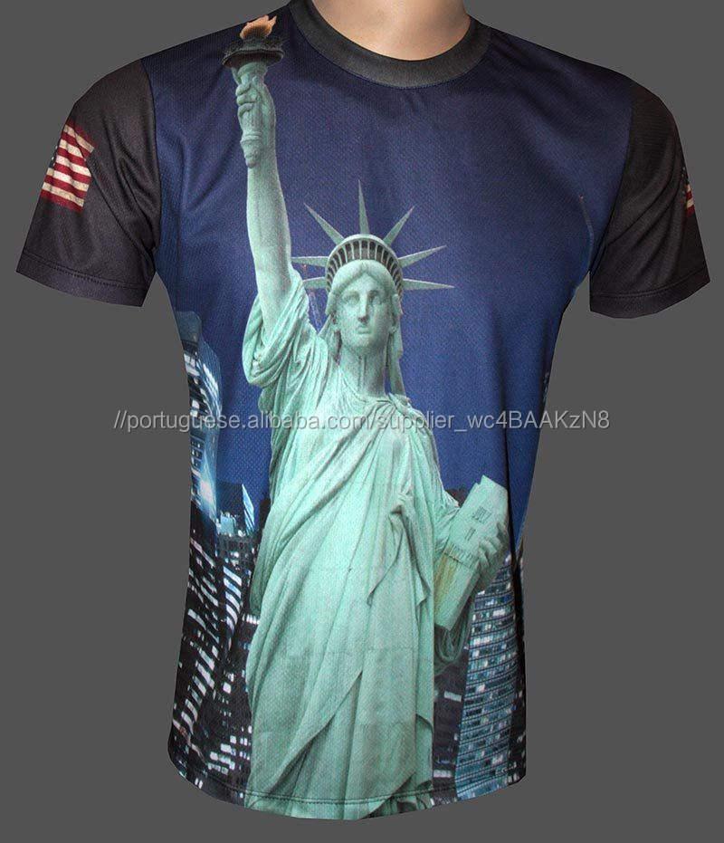 Sublimação t shirt/3d impressão da camisa/camisa lisa t/custom made camisa de bloqueio inter/