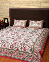 Wholesale Hotel Linen Floral Printed Cotton Multi color Bed sheet