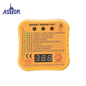 UK GFCI Detect faulty wiring status receptacle socket tester