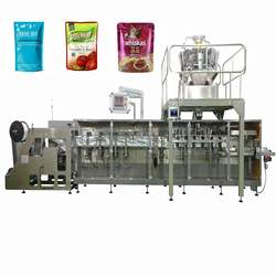 Horizontal Automatic Packing Machine with Multihead Weigher for Popcorn Dried Fig