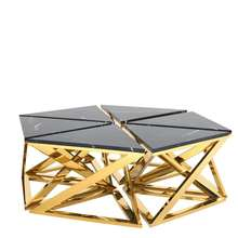 marble top iron coffee Table star set