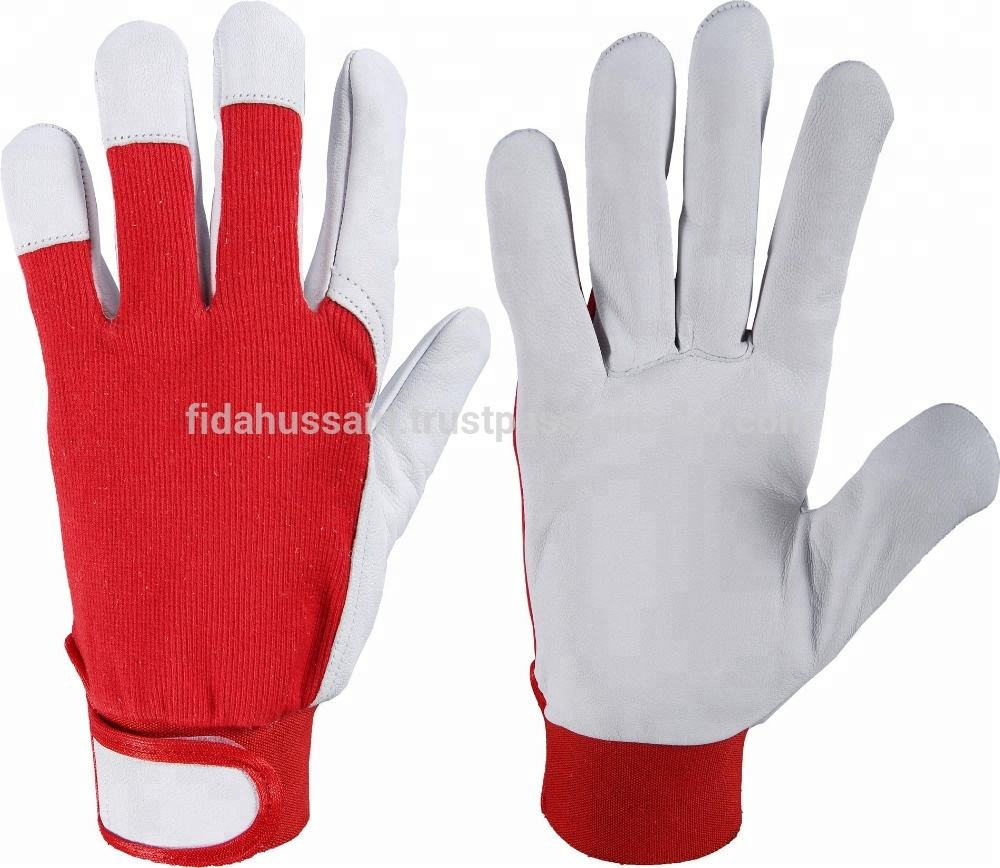 Best Quality Assembling Gloves, Nappa Leather Work Gloves / Goatskin Work Gloves / Mechanic Gloves in Best Quality Leather