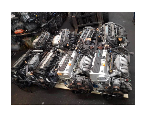 JDM USED ENGINE WITH GEARBOX - LOADING CONTAINER