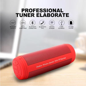 Pria Fashion Portable Nirkabel Bluetooth Tahan Air Outdoor Bersepeda Senter Speaker