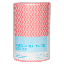 Wholesales Free Sample Spunlace 15x23cm Household Cleaning Nonwoven Table Disposable Cloth Roll