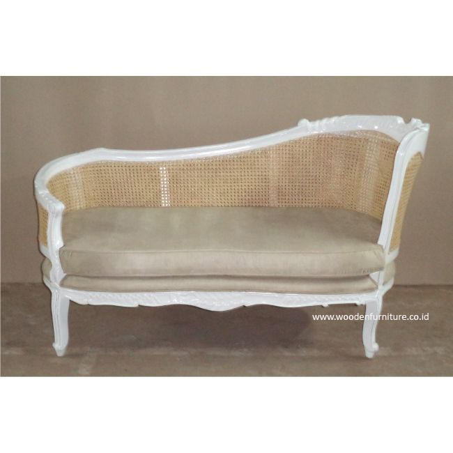 Living Room Rattan Sofa Antique Reproduction Sofa French Provincial Chair Mahogany Painted Sofa Cane European Home Furniture