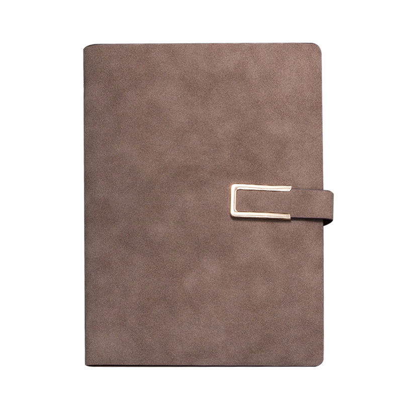 Professional executive custom printing logo A5 PU leather business office notebook with card pocket and buckle