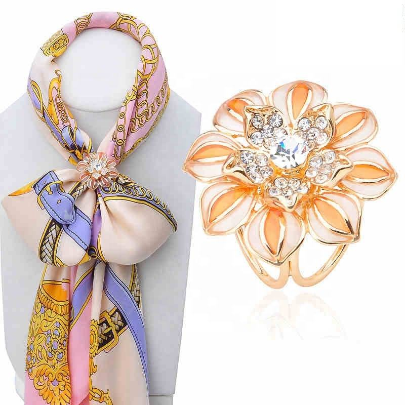 Shawl Scarves Scarf buckle ring clips Brooches