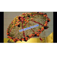 Wedding Stylish Umbrella With Flowers Fiber Decorated Umbrella For Wedding Indian Wedding Umbrella Decor