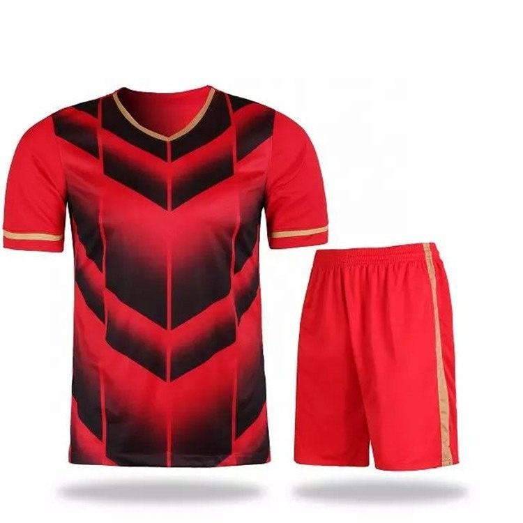 Top Quality Comfortable wholesale Men Football Soccer Jersey and shorts