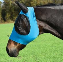 Ear and eye net fly mask with lycra safety