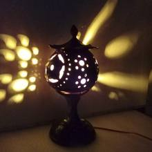 coconut shell lamp/Night lamp/Bedside lamp
