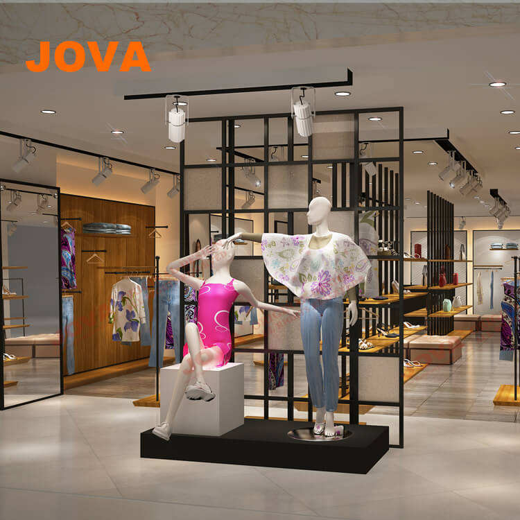 clothes shop interior design ideas walls
