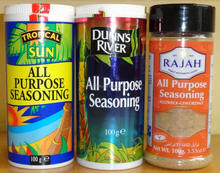 All purpose seasonings (Rajah, Dunn's , Tropical)