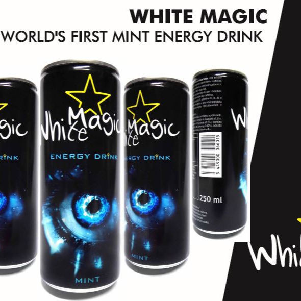 Bianco Magia Energy Drink 250 ml (Menta Energy Drink), minerali e Vitamine/Innovativo-gusto/Cocktail Misto)
