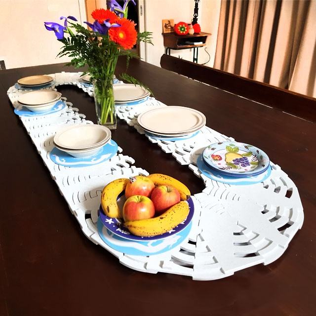 easy clean & storage lazy susan for large table