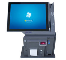 Touch pos system Restaurant 15 inch all in one touch screen pc computer for supermarket