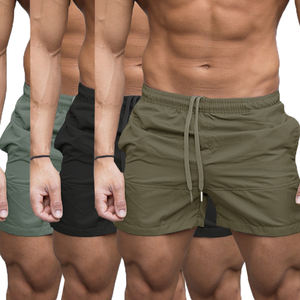 Sports jogging running nylon shorts lycra gym shorts