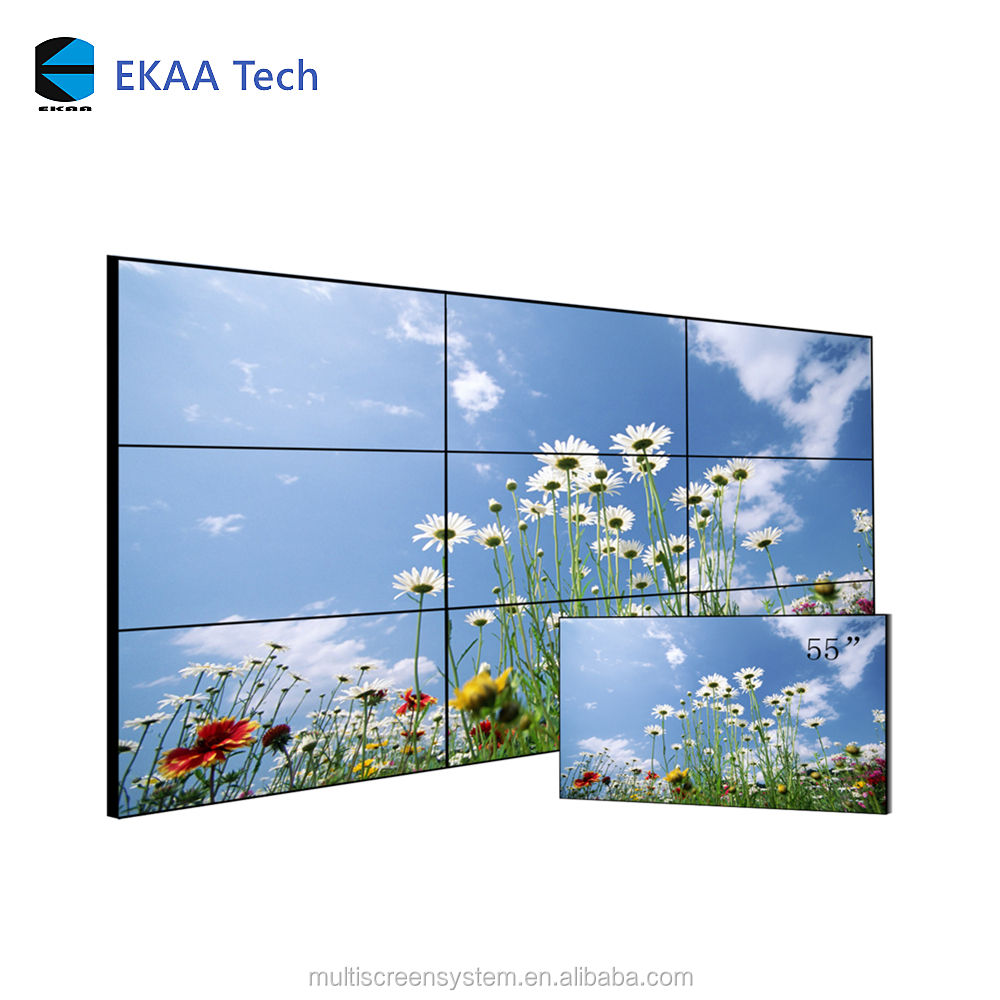 EKAA 46 inch lcd hd display 3x3 LCD DEED super smalle bezel naadloze video muur