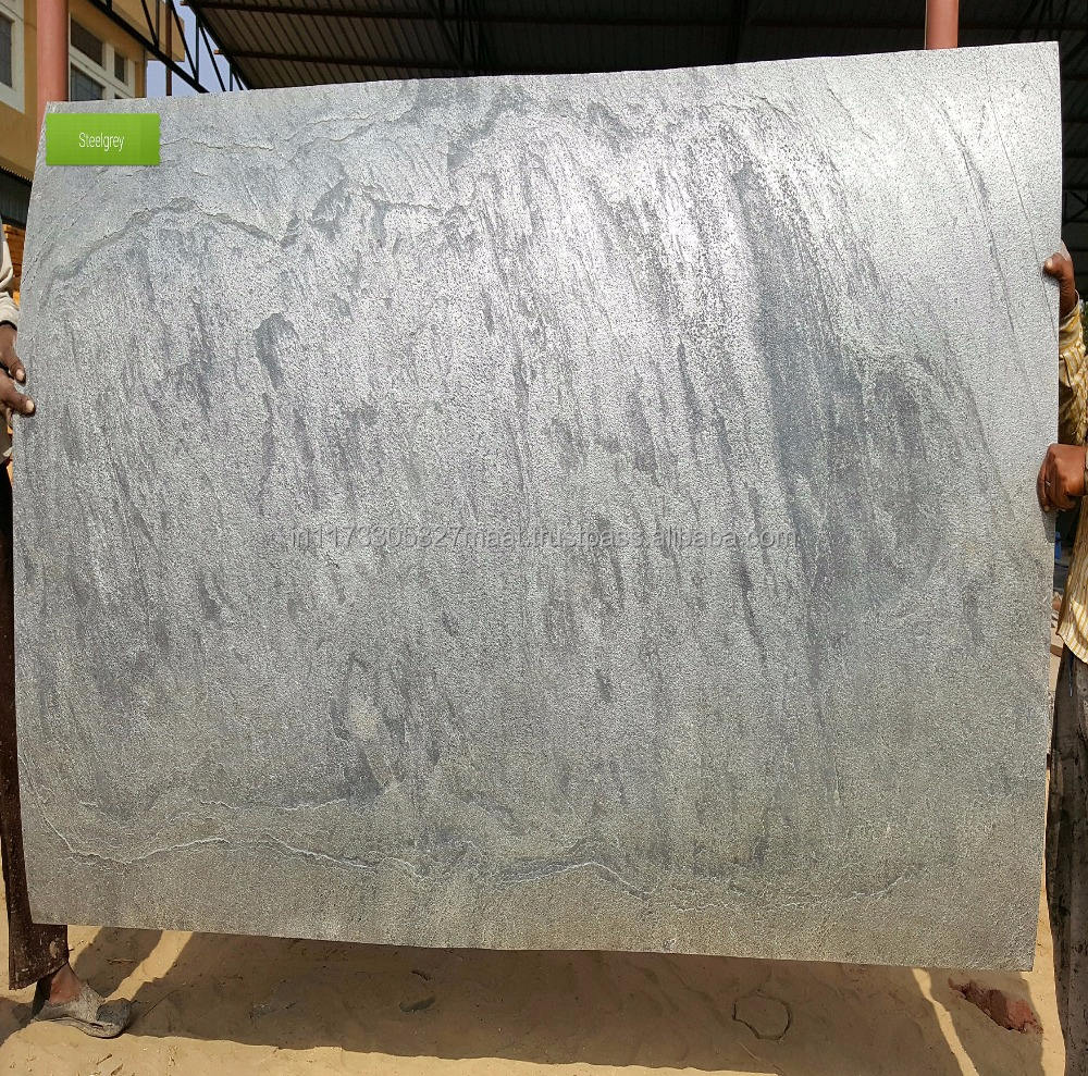 size 244x122 cm Steel grey stone veneer sheet