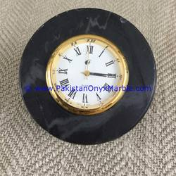 FINE QUALITY MARBLE CLOCKS DESK ROUND SHAPE HANDCARVED NATURAL STONE