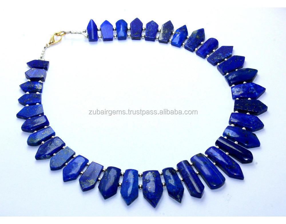 Brilliant Natural Lapis Lazuli Necklace layout Good Quality