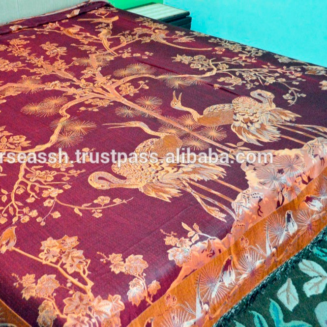 Pure Silk Indian Bedspreads bedcovers Antique paisley patterns