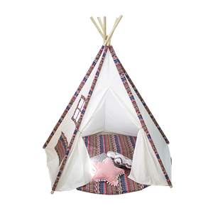 Indoor Outdoor Katoenen Canvas Teepee Indian Tenten Speelhuis Voor Kinderen