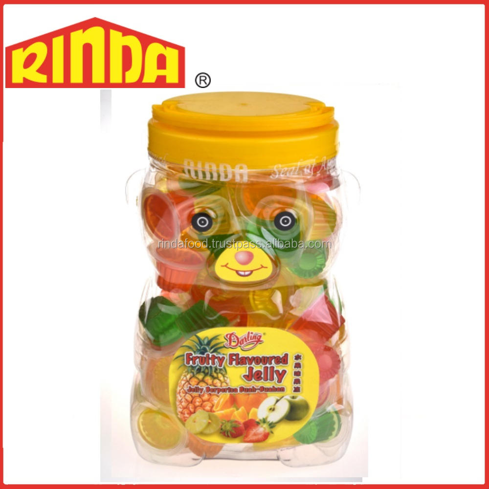 Halal Mixed Fruits Flavoured Jelly Bear Jar