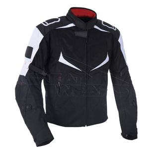 Men's Breathable Waterproof Nylon Polyester 600D Cordura Textile Touring Racing Jackets and Suits with Padded Safety