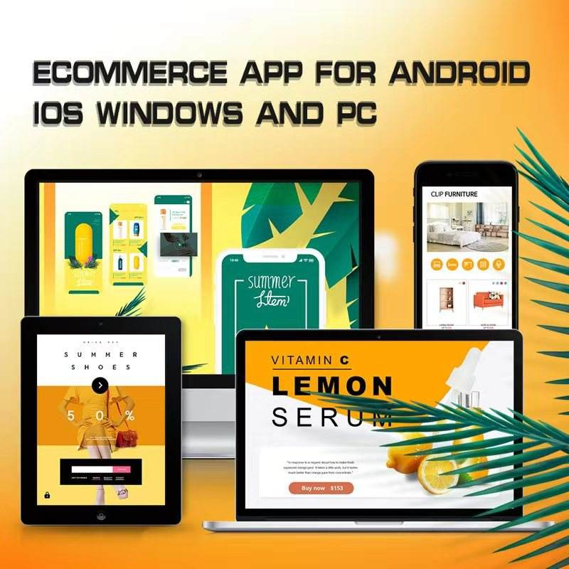 Ecommerce app designer app bauen für Android iOS PC Windows Phone