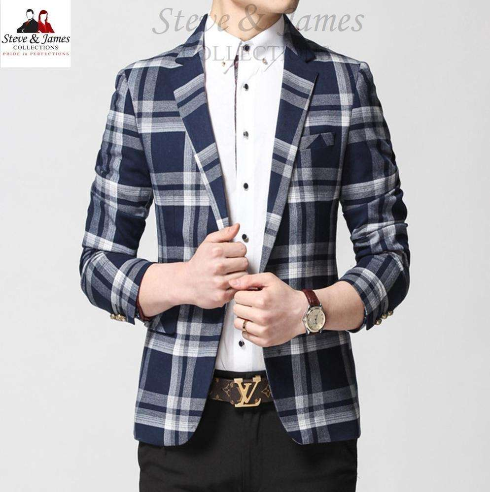 High Fashion Customized Casual Men's Suit Jacket and Blazers Made from Thailand