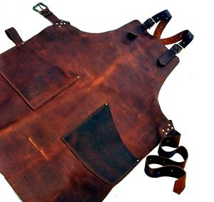 New Leather Work Apron, Chef Apron Made With Genuine Leather, Bartender Apron LTL-0016