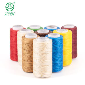 Waxed Flat Polyester Braided Thread 210d Small Sport Leather Shoes Sewing Braided Sewing Thread