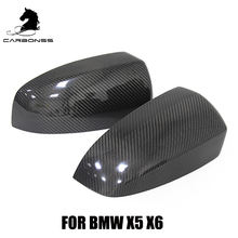 X SERIES CF CAR DOOR WING MIRROR COVER 1 PAIR FOR BMW X5 E70 X6 E71 2008-2013