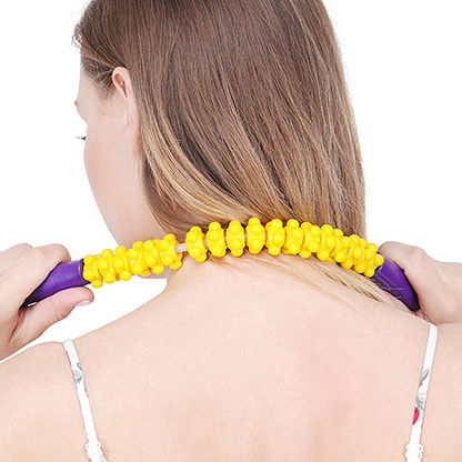 Handheld Wraparound Neck Massager made of Recyclable Plastic for relaxing from stiff neck, shoulder or cervical Pain
