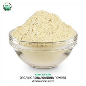 Organic Ashwagandha Powder (Indian Ginseng Powder) from India - Dietary Supplement