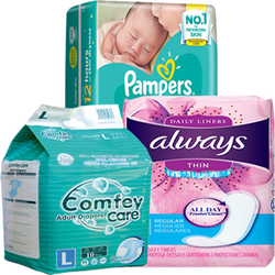 Disposable diapers baby/women and old ( Pampers/Always/Comfrey Available)