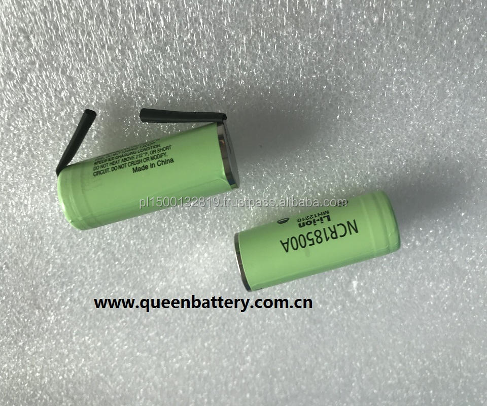 18500 ncr18500a 2000mah battery cell w/tabs 3.6v 3.7v 18500A battery with tabs