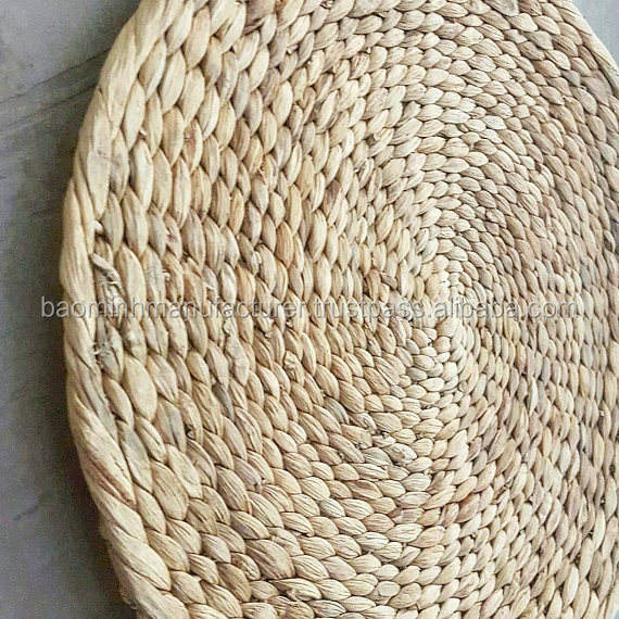 Vintage Woven Seagrass Chargers/ Placemats/ Dinner Plate Holders/ Wall Decor