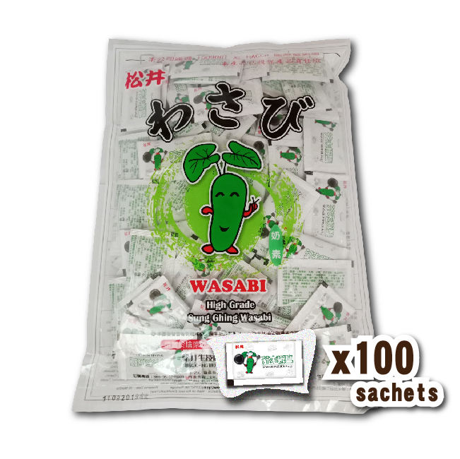 Dried Style BBQ Mixes Spices Spicy taste Wasabi pepper salt 3g*100 sachets